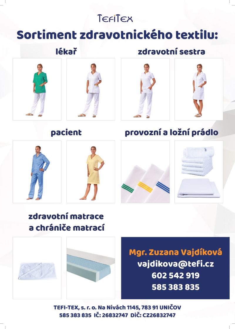 sortiment zdravotnického textilu